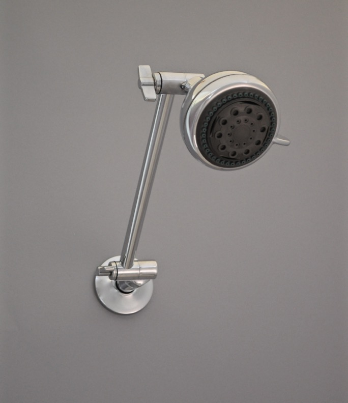 Chrome Extension Arm w Showerhead GREY