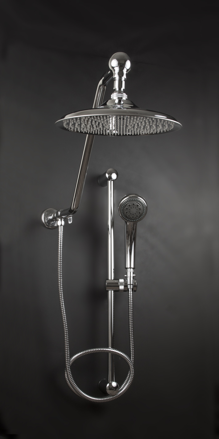 Rain Shower System With Handheld Oversized Rain Shower Head