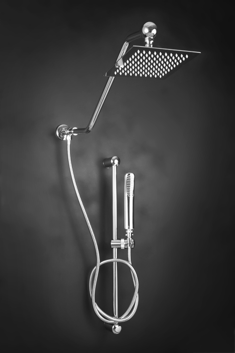 Square Rain Shower Head With Hand Held