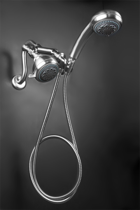 Brushed Nickel Mermaid Shower1