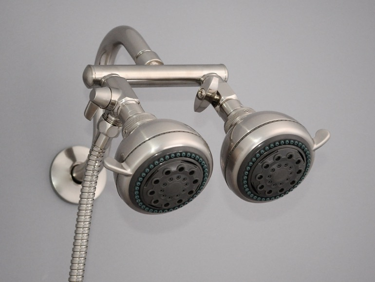 BN Polaris Shower Head Closeup - GREY